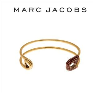 Marc Jacobs Crystal Safety Pin Cuff